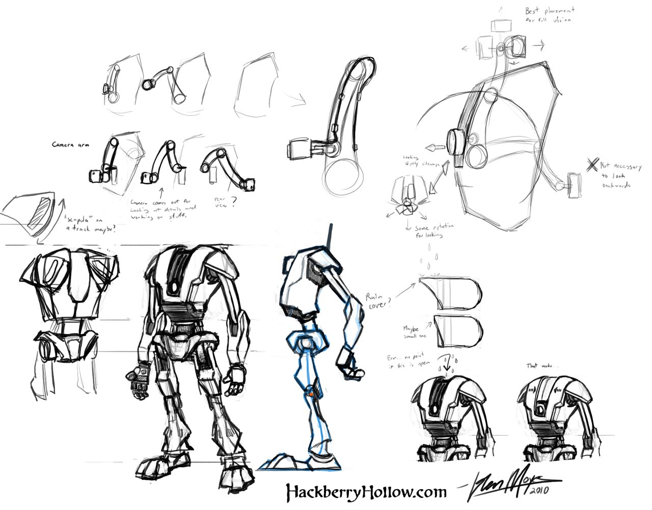 Robot Concept Drawings of The New Robot Design so